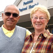 Ernst and Kathie Westphal of Osoyoos are donating $30,000 to the South Okanagan Similkameen Medical Foundation to help provide medical equipment for the Penticton Regional Hospital expansion, now under construction.